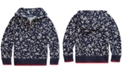 Polo Ralph Lauren Little Girls Floral Cotton Terry Hoodie